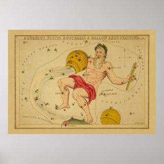 Aquarius  - Vintage Sign of the Zodiac Image