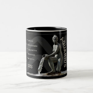 Aquarius Water Bearer Zodiac Mug with Traits