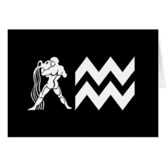 Aquarius with  Symbol Greeting Card