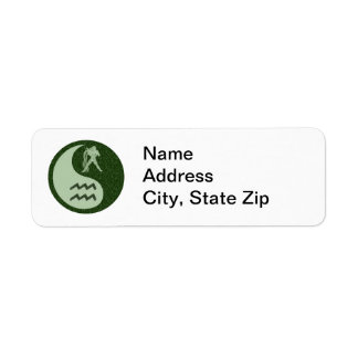 Aquarius Yin Yang Return Address Label