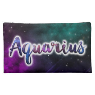Aquarius Zippered Pouch - Medium Cosmetic Bags