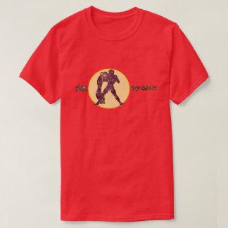 Aquarius Zodiac Amethyst color Designer T-Shirt