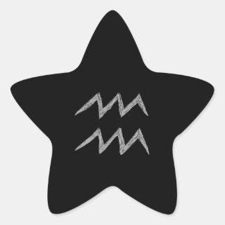 Aquarius. Zodiac Astrology Sign. Stickers