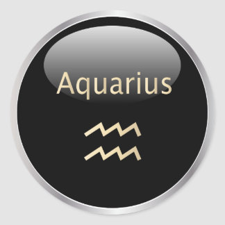 Aquarius zodiac astrology,  star sign stickers