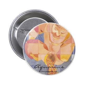 Aquarius Zodiac Pinback Button