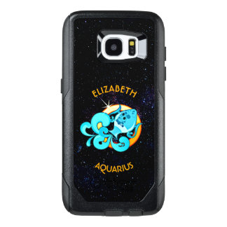 Aquarius Zodiac Birthday Sign With Your Name OtterBox Samsung Galaxy S7 Edge Case