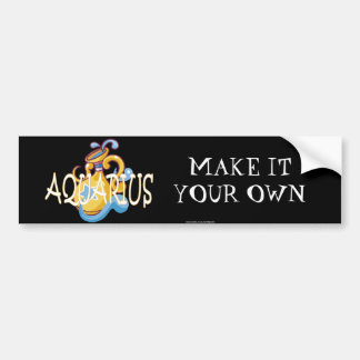 Aquarius zodiac bumper sticker