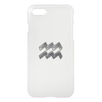 Aquarius Zodiac Distressed Silver Steel Style iPhone 7 Case