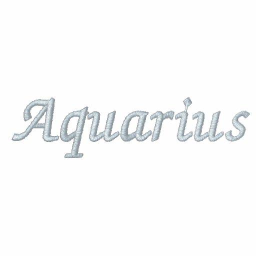 Aquarius Zodiac Embroidered Fleece Zip Jog Jacket
