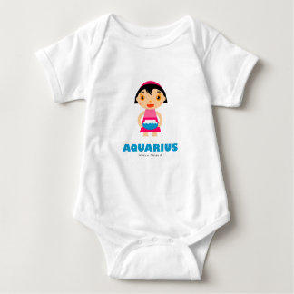 Aquarius Zodiac for kids Baby Bodysuit