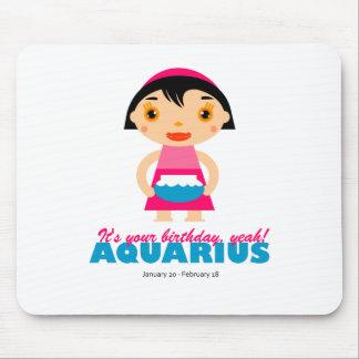 Aquarius Zodiac for kids Mouse Pad