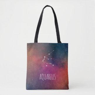 Aquarius Zodiac Galaxy Tote Bag