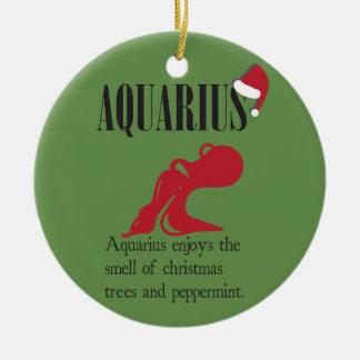 Aquarius Zodiac Holiday Ornament