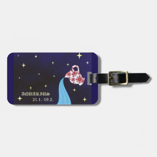 Aquarius zodiac Luggage Tag