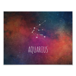 Aquarius Zodiac Nebula Poster