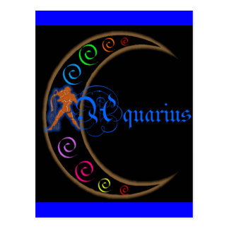 Aquarius Zodiac Postcard