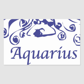 Aquarius Zodiac Rectangular Sticker