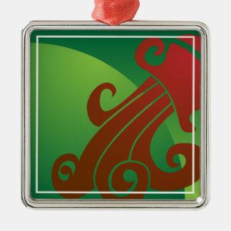 Aquarius Zodiac Sign Christmas Ornament
