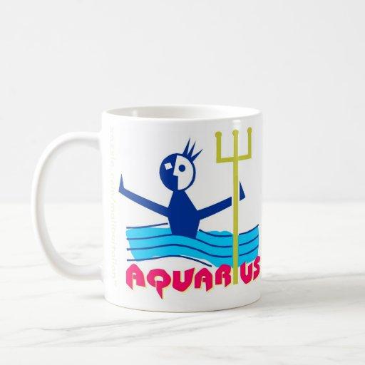 Aquarius Zodiac Sign Classic White Coffee Mug