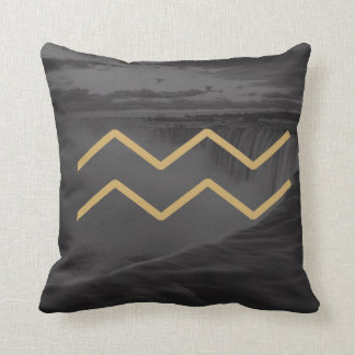 Aquarius Zodiac Sign | Custom Background Cushion