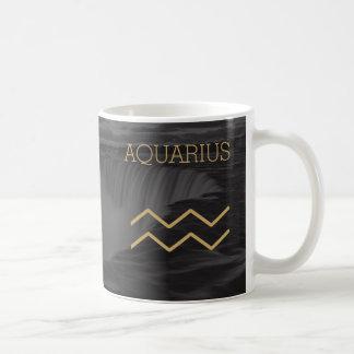 Aquarius Zodiac Sign | Custom Background + Text Coffee Mug