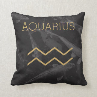 Aquarius Zodiac Sign | Custom Background + Text Cushion
