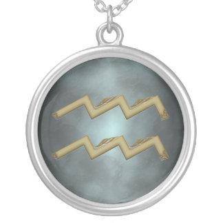 Aquarius Zodiac Sign Custom Colour Necklace