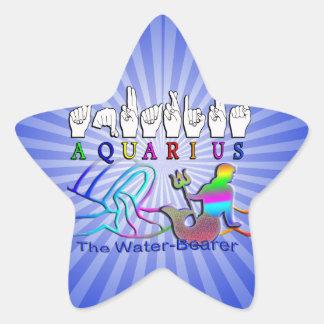Aquarius ZODIAC SIGN FINGERSPELLED Stickers