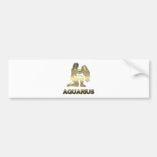 Aquarius zodiac sign - old gold edition bumper sticker