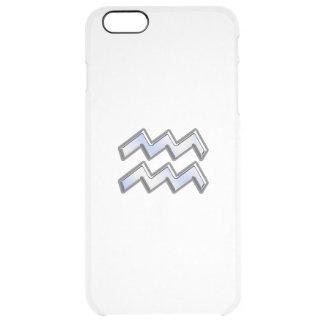 Aquarius Zodiac Sign on navy blue digital camo iPhone 6 Plus Case