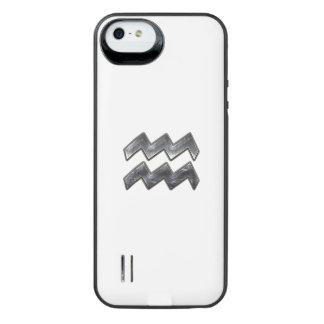 Aquarius Zodiac Sign on olive green digital camo iPhone 6 Plus Case