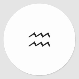 Aquarius - Zodiac Sign Sticker