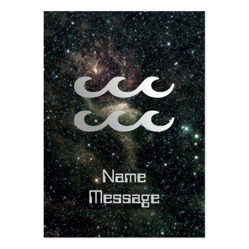 Aquarius Zodiac Star Sign Universe Business Cards