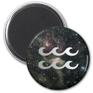 Aquarius Zodiac Star Sign Universe Refrigerator Magnet
