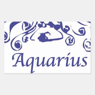 Aquarius Zodiac Rectangle Sticker