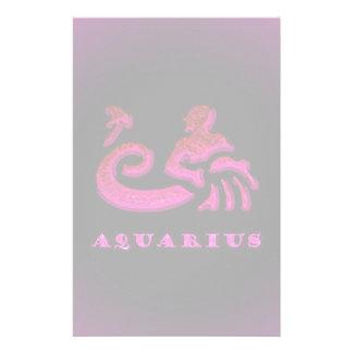 Aquarius Zodiac Symbol Personalized Stationery