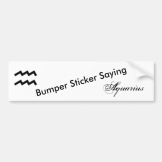 Aquarius Zodiac Symbol Standard Bumper Sticker