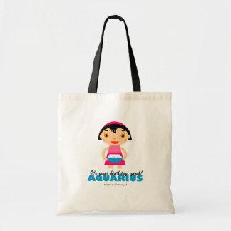 Aquarius Zodiac Tote for kids Budget Tote Bag