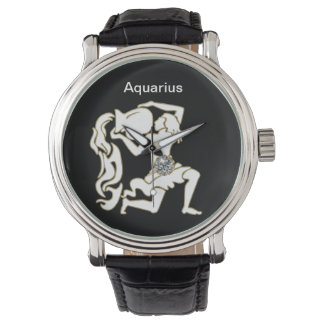 Aquarius Zodiac Wrist Watch