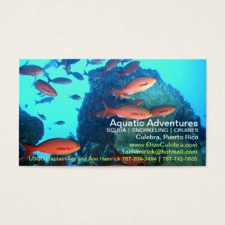 Aquatic Adventures Biz Card! Business Card