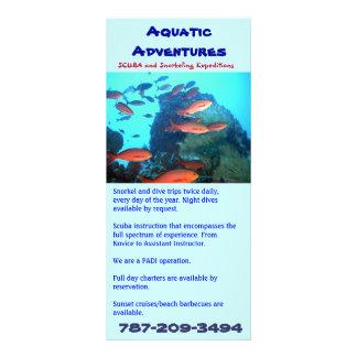 Aquatic Adventures, rack card