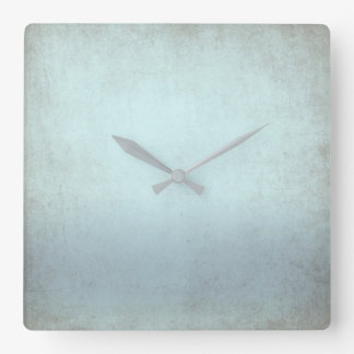 Aquatic Blue Gray Grungy Contemporary Clocks