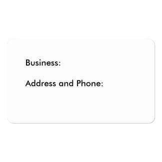 Aquatic Business Card