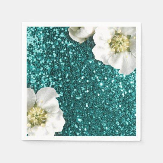 Aquatic Emerald Beach Jasmin Glitter Sequin Sparkl Disposable