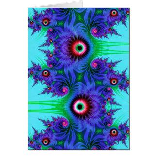 aquatic flowers card