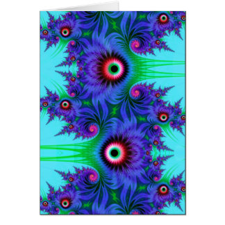 aquatic flowers greeting card