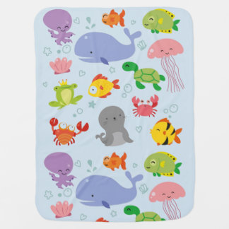 Aquatic Friends Receiving Blanket