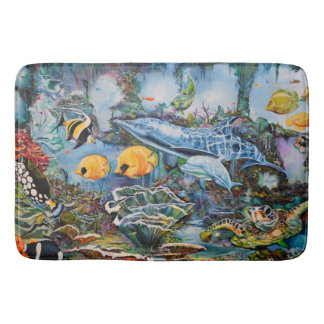 Aquatic life bath mat
