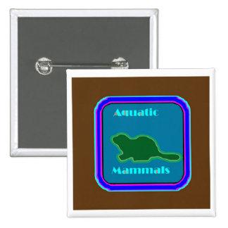 Aquatic Mammals - Nature Lovers Favorite 15 Cm Square Badge