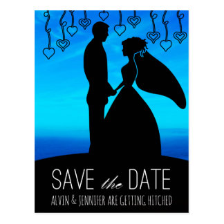 Aquatic Save The Date Water Ocean Blue Sky Postcard